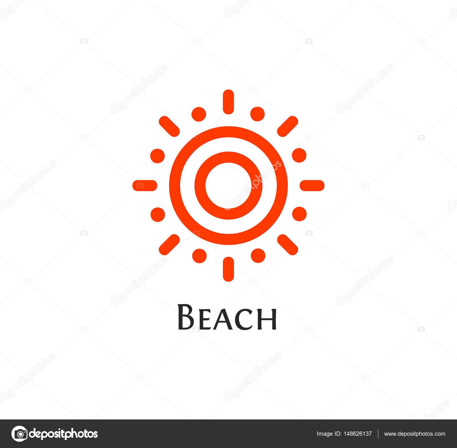Resumen aislado redondo forma naranja color insignia, logotipo Sol ...