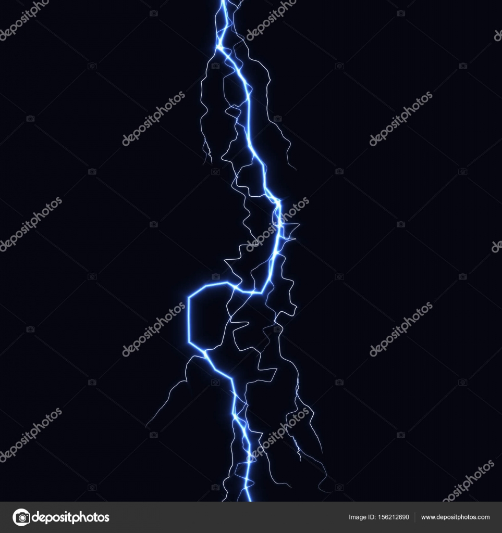 Lightning Flash Thunder Lumiere Etincelle Sur Fond Noir Tempete De