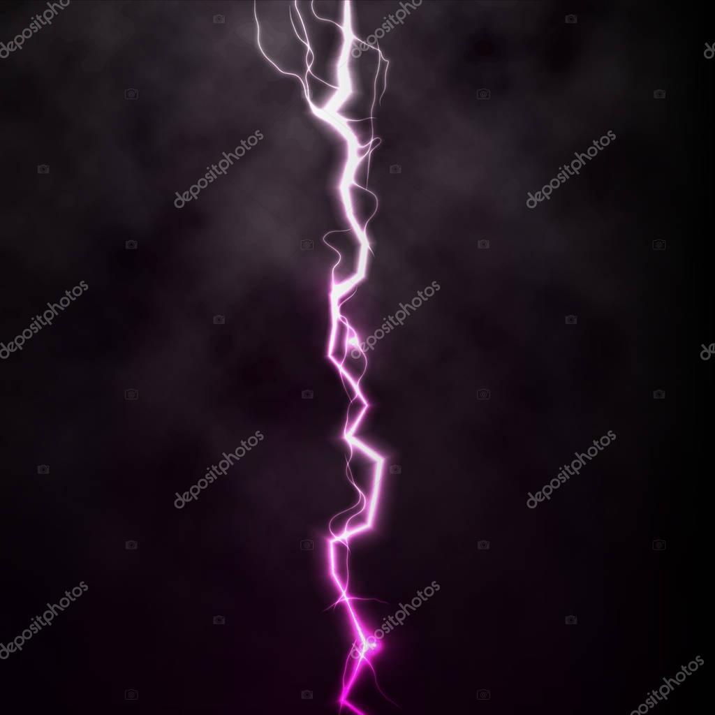 Flash Clignotant Thunder Lumiere Etincelle Sur Fond Noir Avec Des