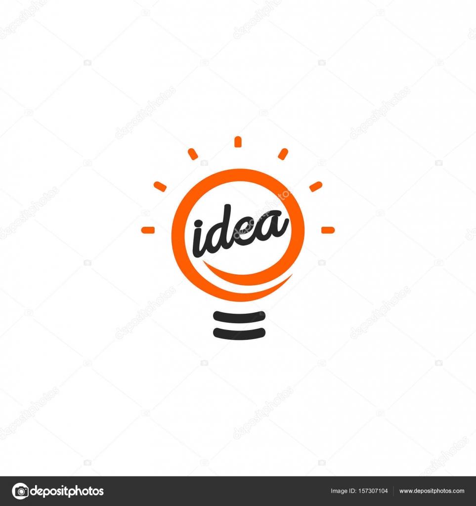 Stilisierte Zeichen der Vektor Glühbirnen, weiß und Orange Farbe ...