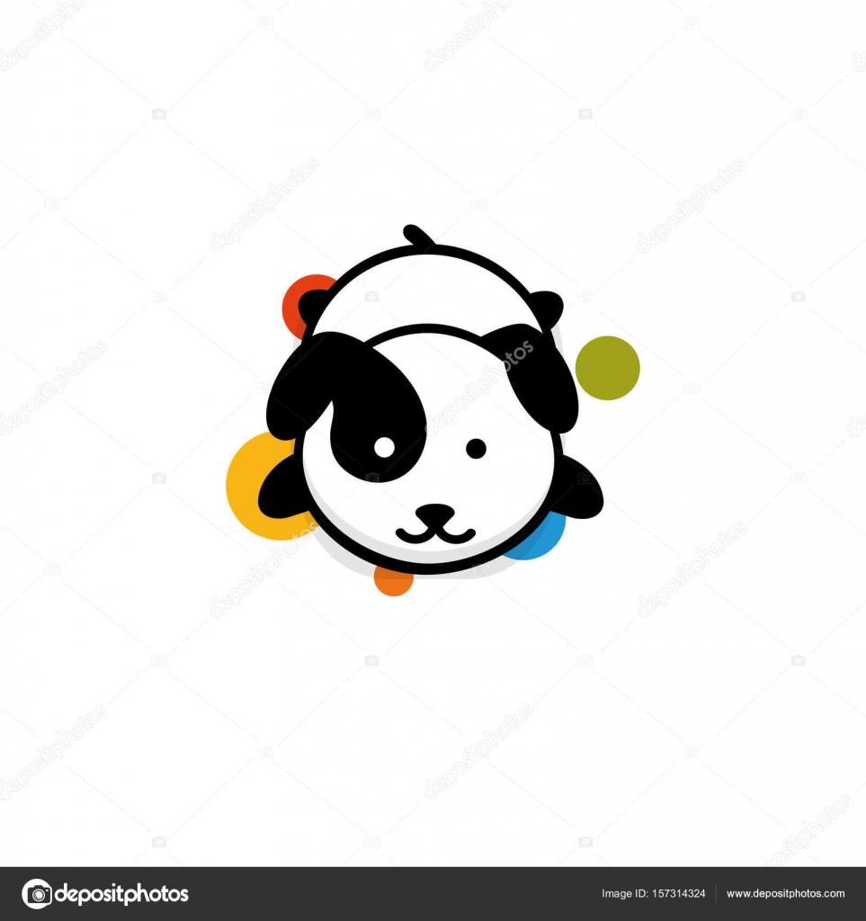 Niedlichen Hund Rest liegend Vektor-Illustration, Baby Welpen Logo ...