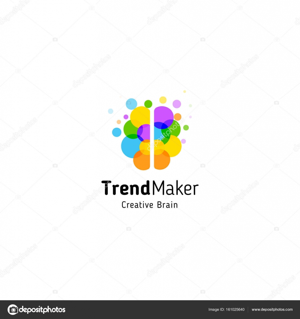 Trend maker abstract vector logo isolated colorful circles bubbles trend maker abstract vector logo isolated colorful circles bubbles brain shape genius creative mind ccuart