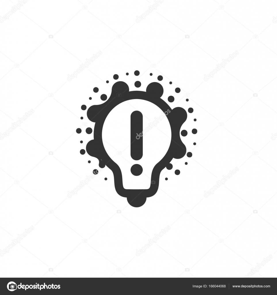 Monochrom stilisierte Glühbirnen Logo, neue Idee und Lösung ...