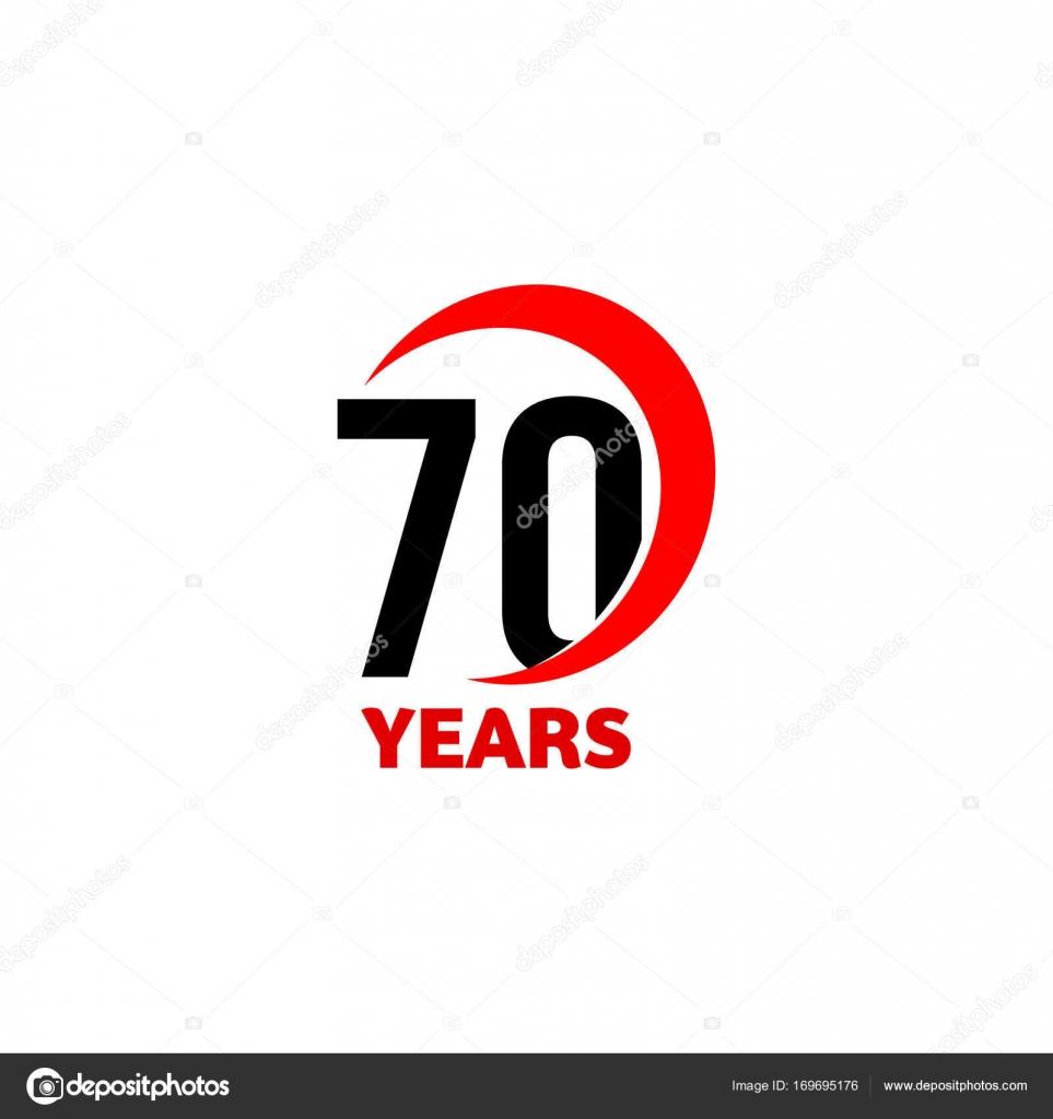 70th Anniversary Abstract Vector Logo Seventy Happy Birthday Day
