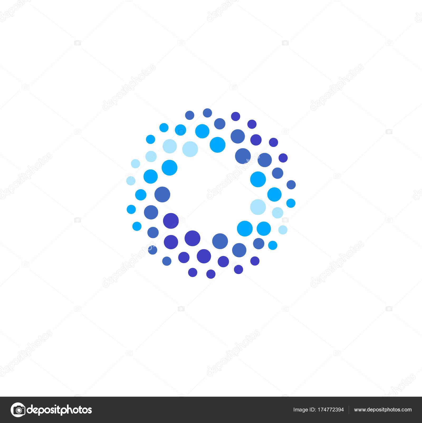 Abstrakt blau Runde Logo aus Kreisen. Wasser-Vektor-Logo-Vorlage ...