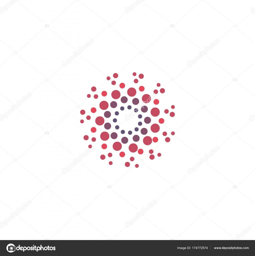 Vector abstracto redondo logotipo de los círculos. Círculo de grande ...