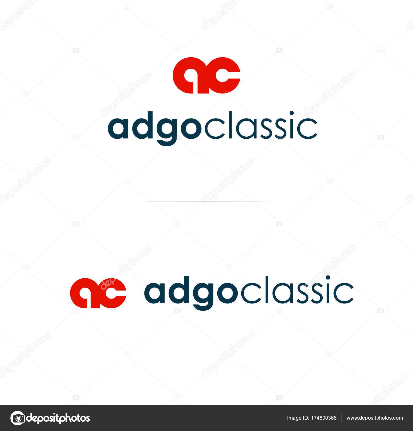 Rote Farbe Logo Monogramm Vorlage. Vektor-Logo — Stockvektor ...