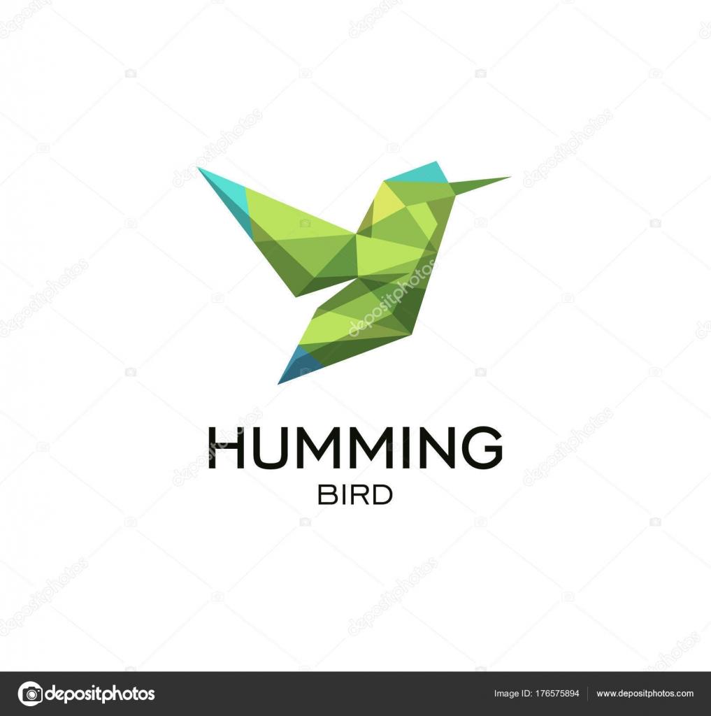 Signe Géométrique De Hummig Oiseaux Calibri Descripteur De Logo