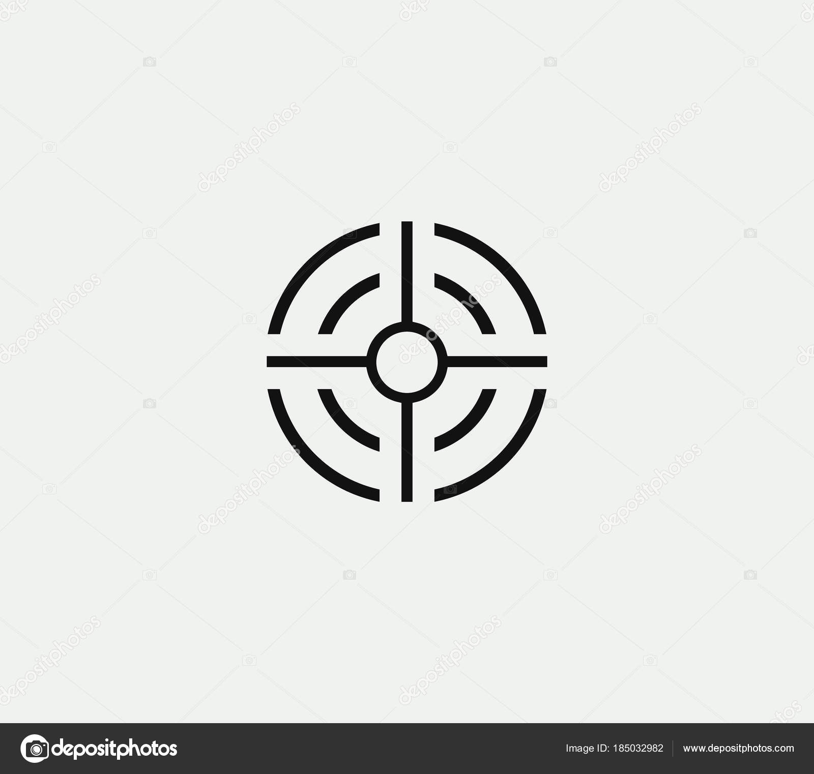 Aim vector linear stylized icon goal abstract sign target symbol aim vector linear stylized icon goal abstract sign target symbol gun business logo template vector illustration on white background vector by artyway buycottarizona Image collections