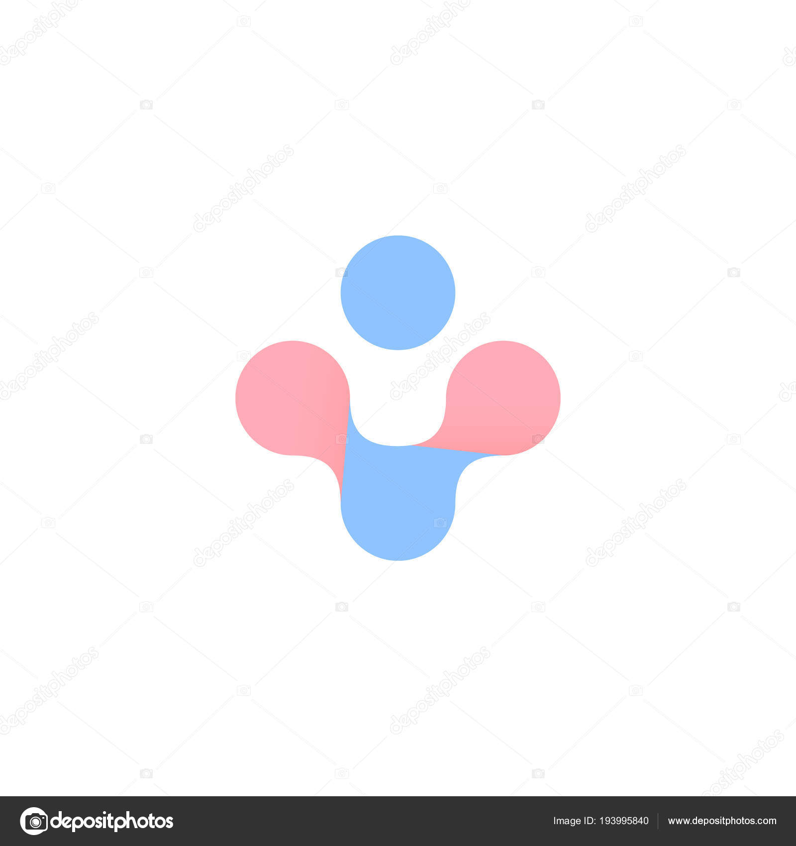 Blue And Pink Abstract Cross Woman Man Health Vector Symbol Pregnancy Childbirth Logo Isolated Plus Icon On White Background By Artyway