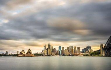 Long exposure of Sydney from Kirribilli North Sydney.