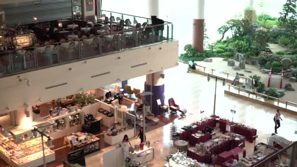 Taipei, Taiwan-21 September, 2017: 4K Asian People Buying In Fashion Stores Of Appliances Home On The Shopping Mall with Luxury Restaurant -Dan