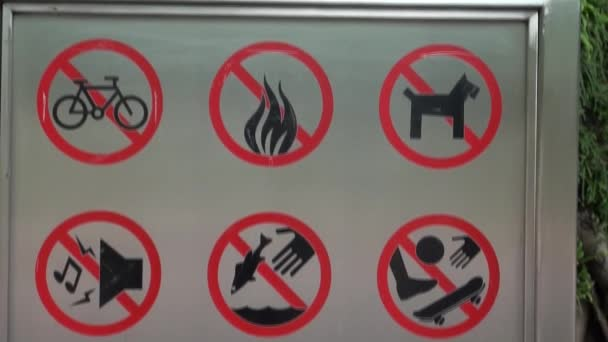 Zeichen, anderes Symbol im Zoo-Dan verboten