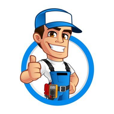 Vector illustration of an electrician
