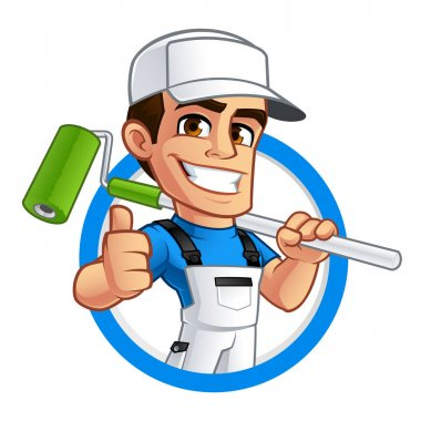 Vector illustration of a professional painter