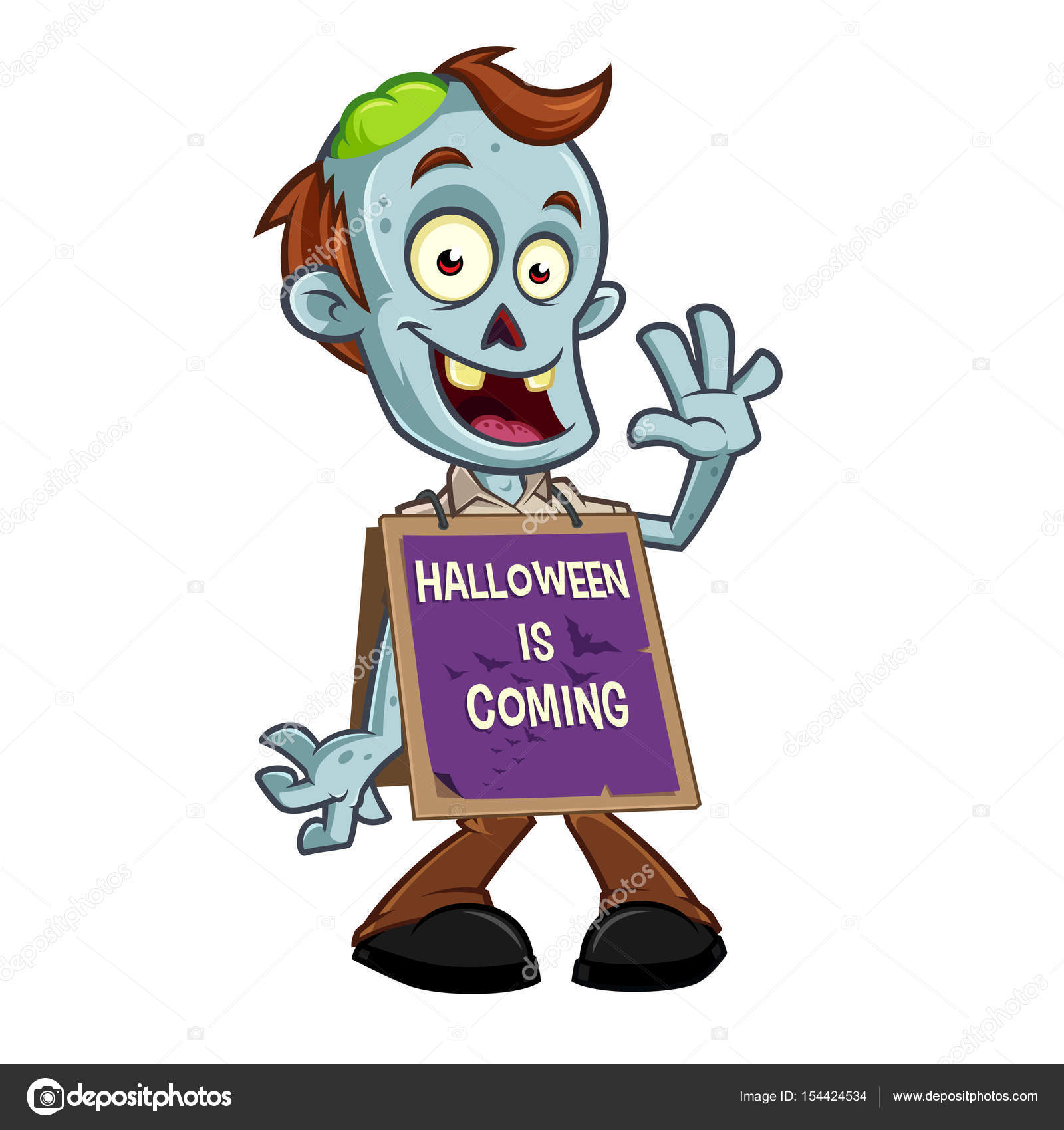 Funny Zombie To Celebrate Halloween Party