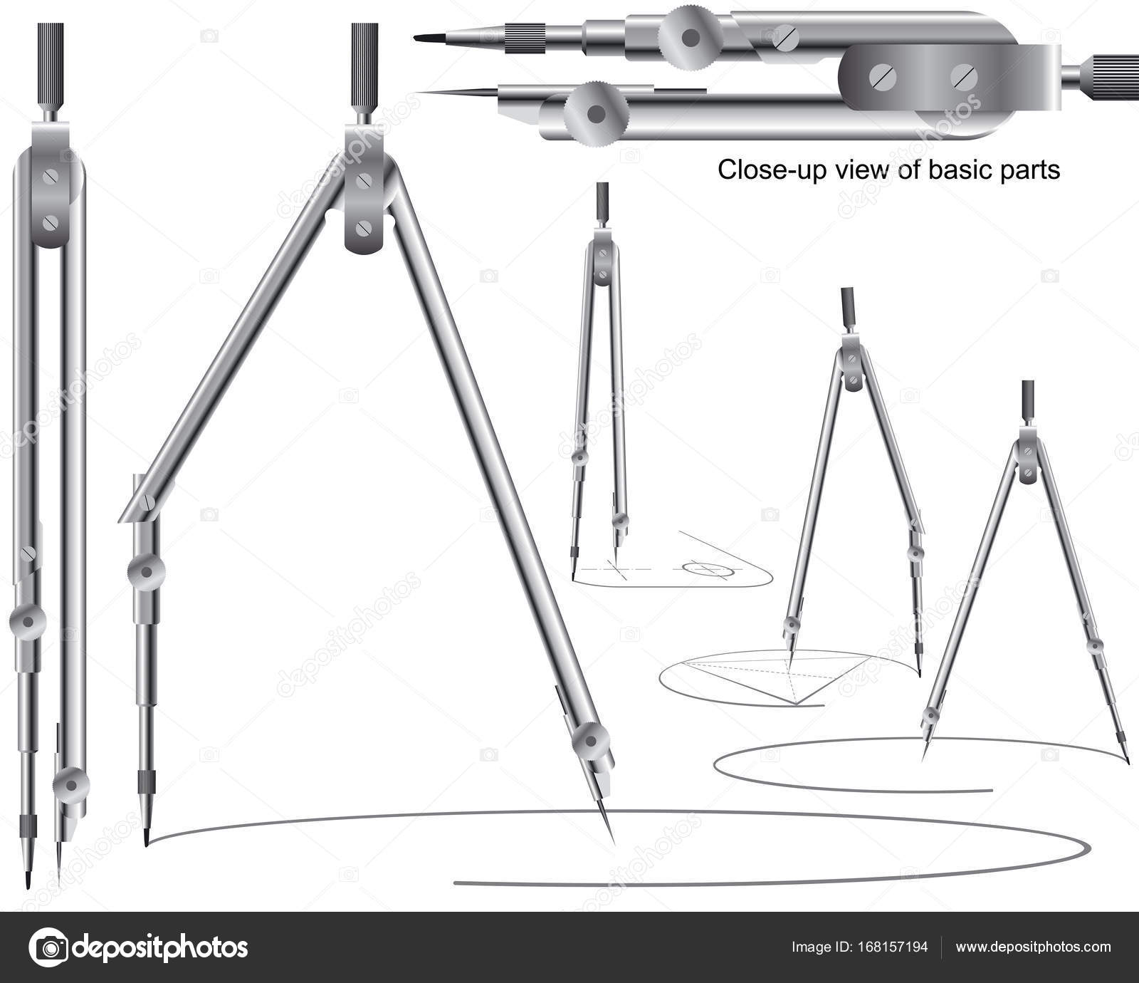 Drawing Compass Geometry Precision Tool Engineering Drafting ...
