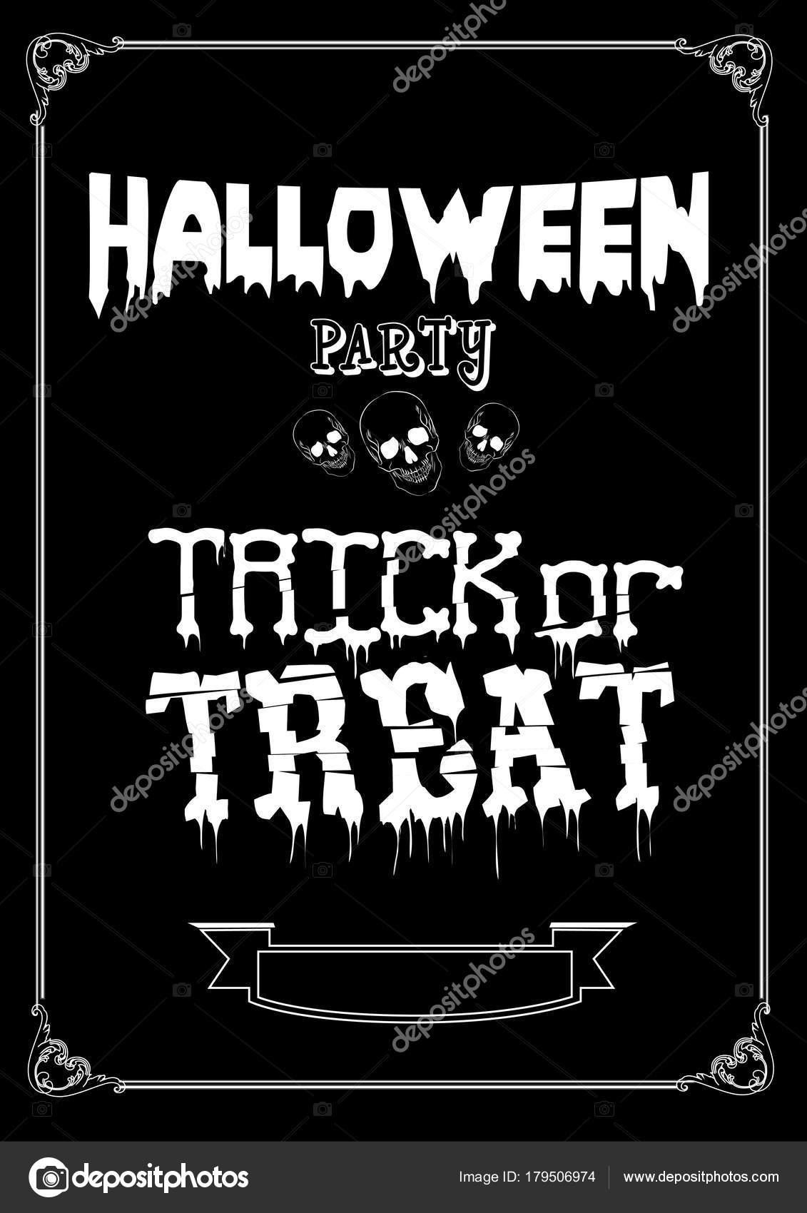 Süßes oder Saures. Halloween-Plakat zu entwerfen, mit ...