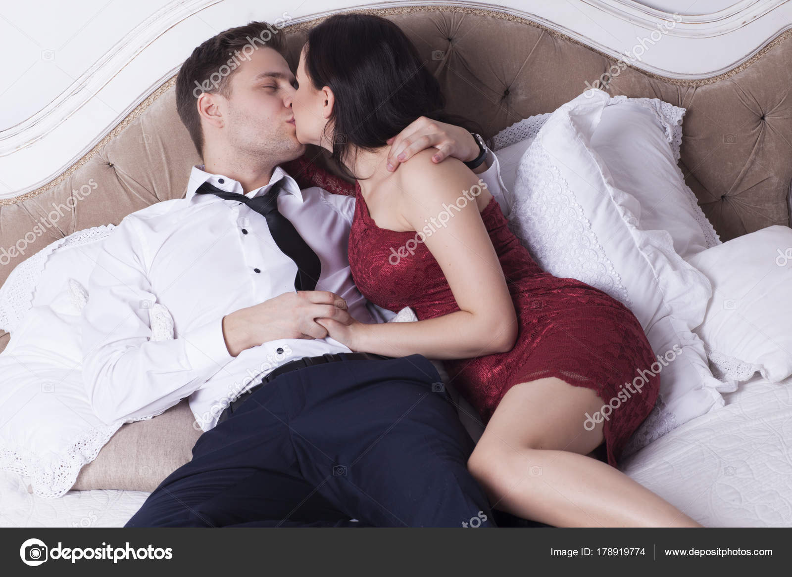 Sexy couple in bed room