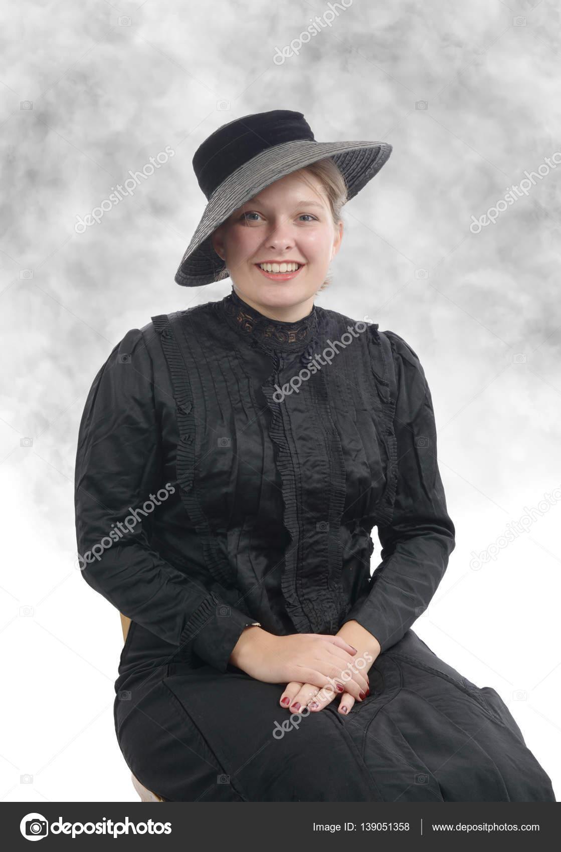 los joven traje de años vintage Mujer 1900 en TF7Hq