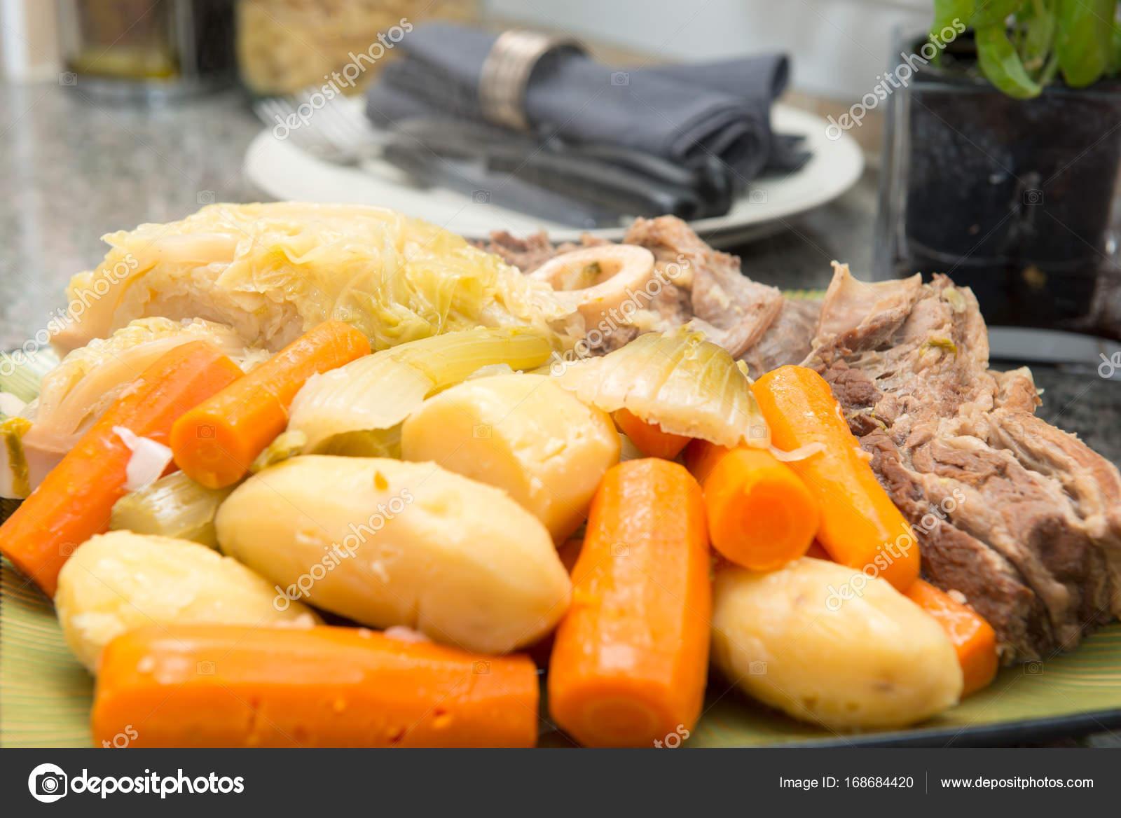 Rindfleisch Eintopf Und Gemüse Pot Au Feu Stockfoto Philipimage