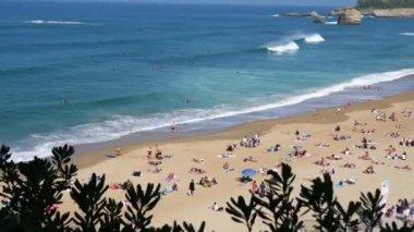 Beach of Biarritz in France