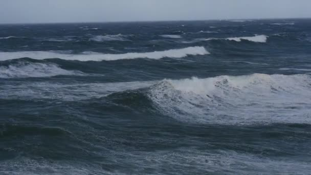 Ocean storm weather with huge waves