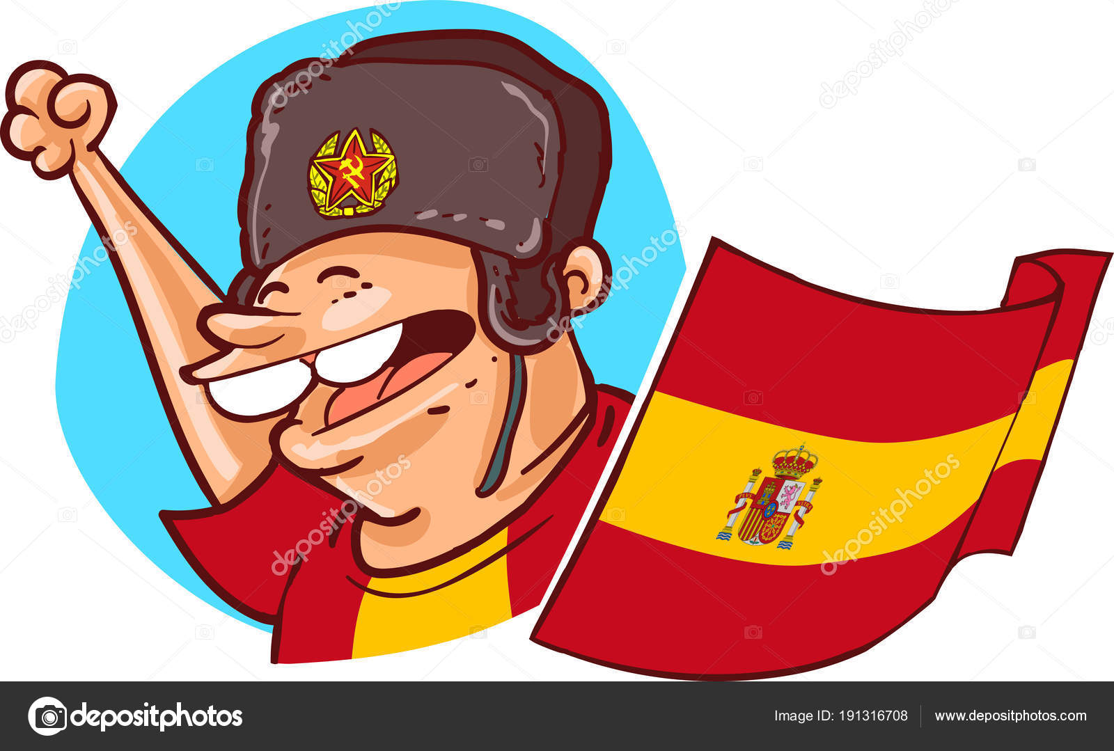 695eb24fc Spanish Supporter Ushanka Hat National Flag Russia 2018 World Cup ...