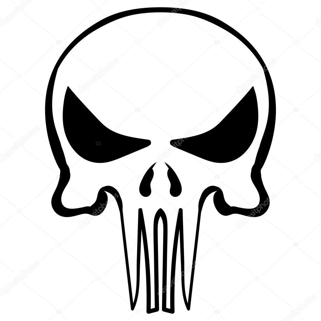 Cartoon Skull Ink Sketch Vector Stock Vector C Tiverets 125607386