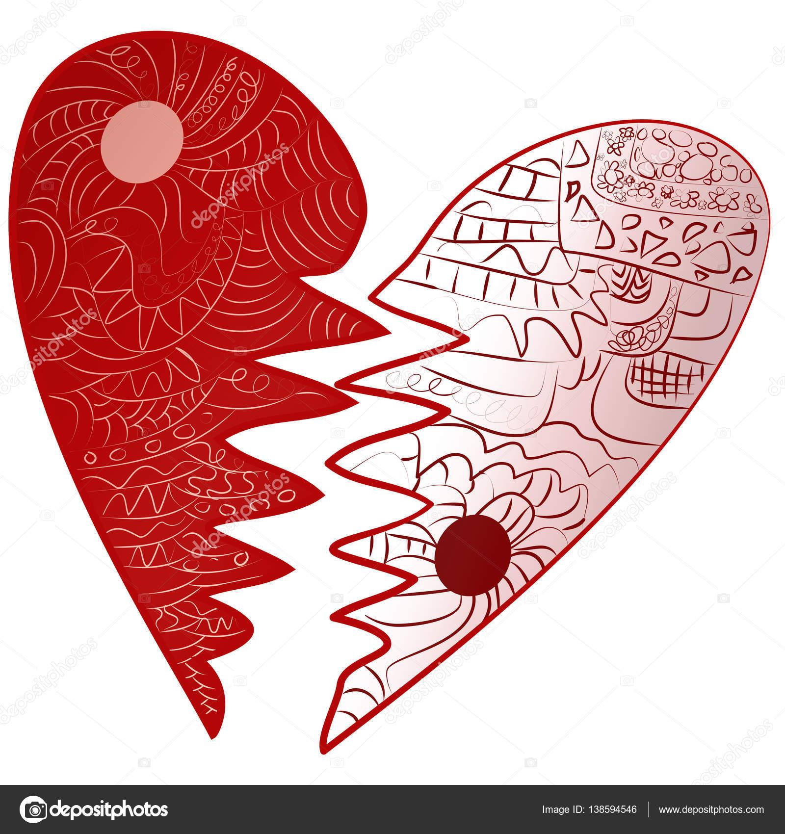 Imagenes Corazones Rotos Para Pintar Dia De San Valentin Rojo
