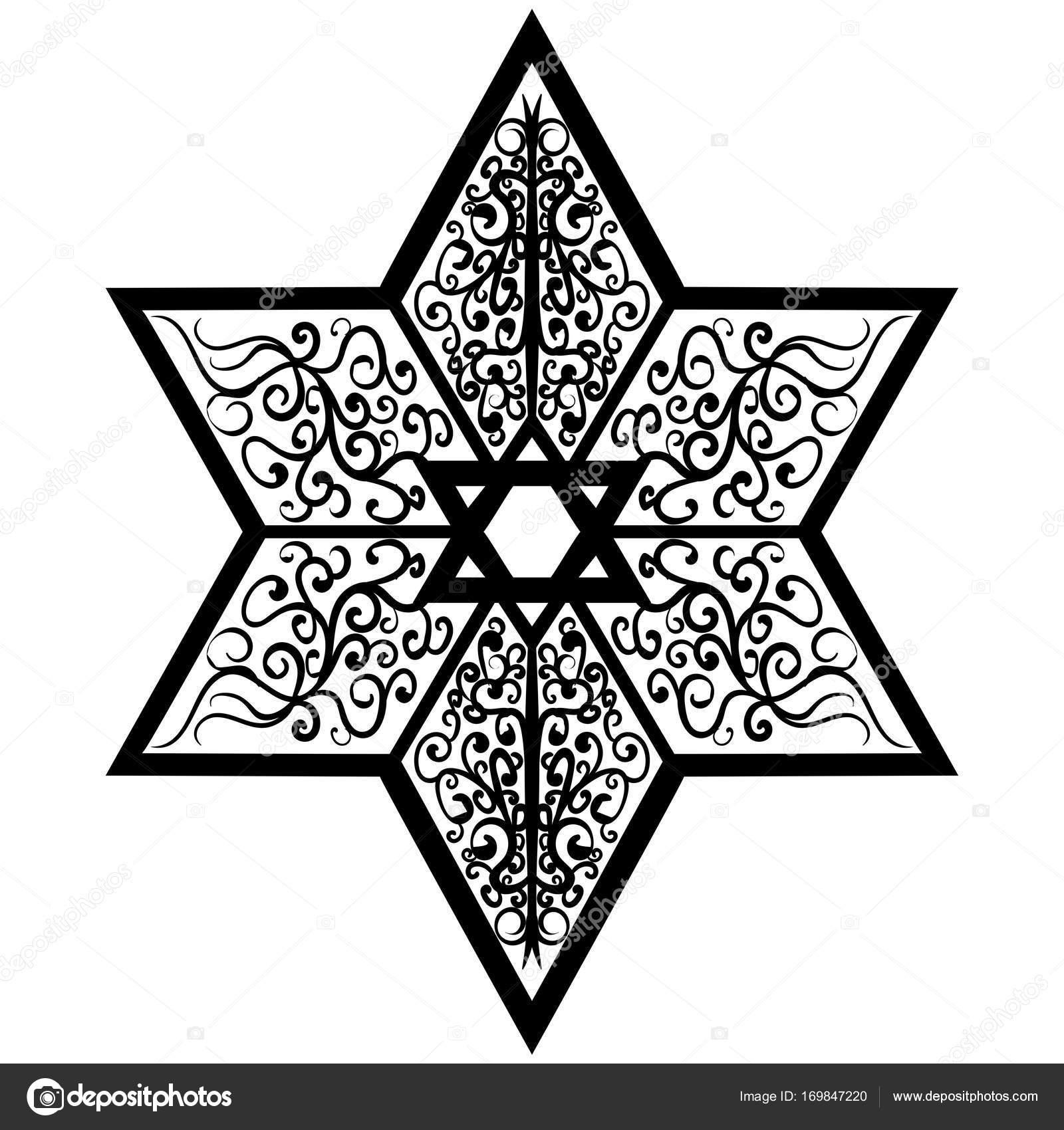 Dibujos Dibujo Estrella De David Estrella De Tatuaje Dibujo De