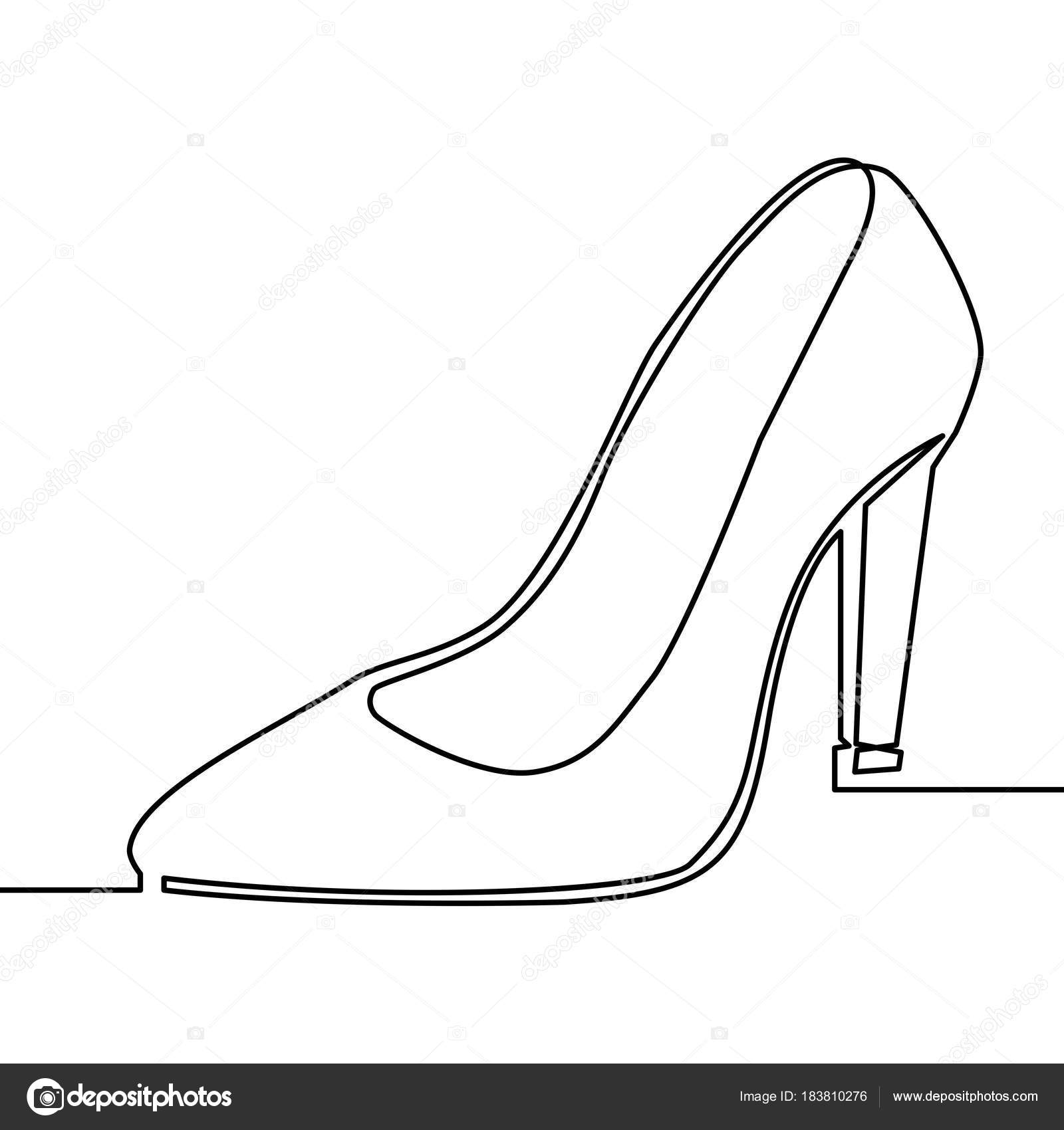 zeichnung high heels