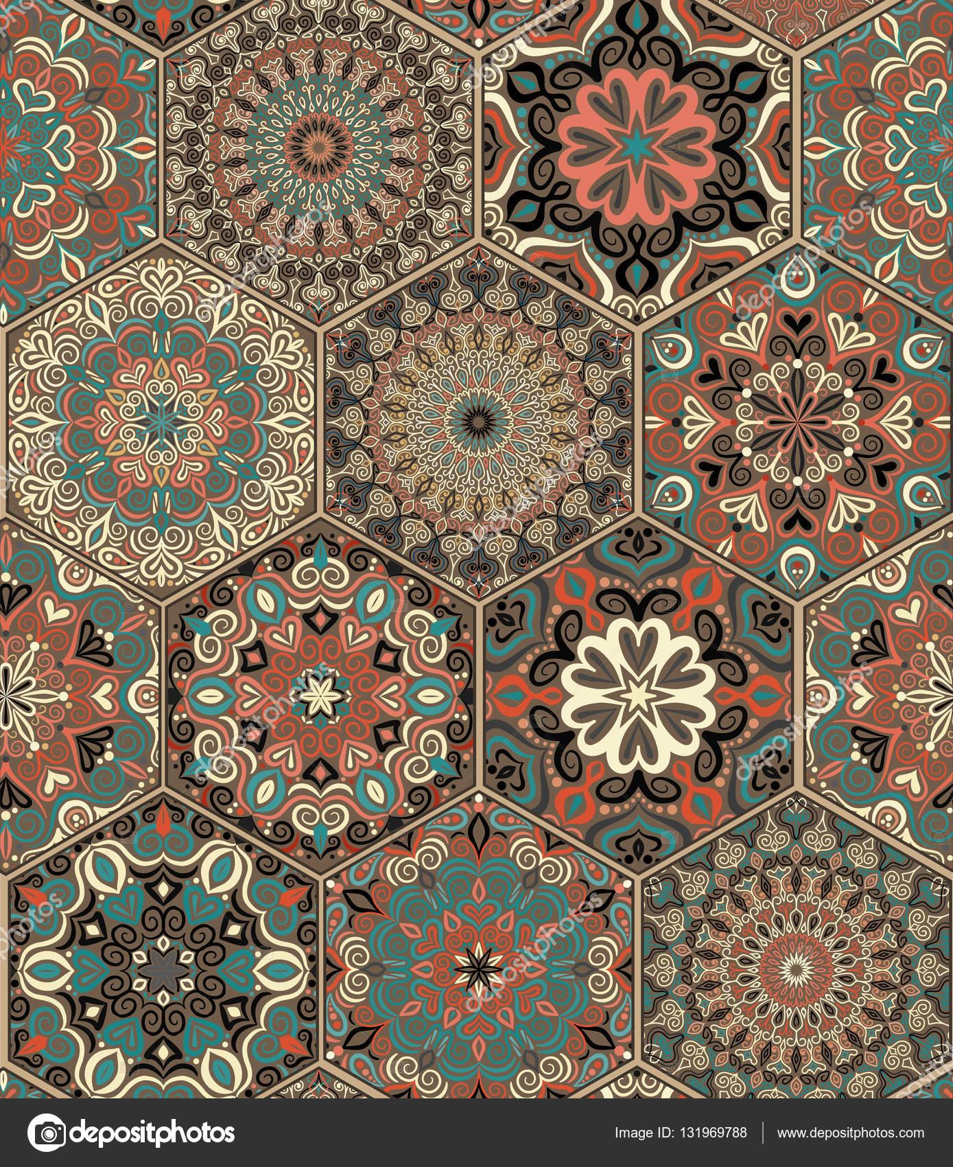 baldosas hexagonales set armadura u ilustracin de stock