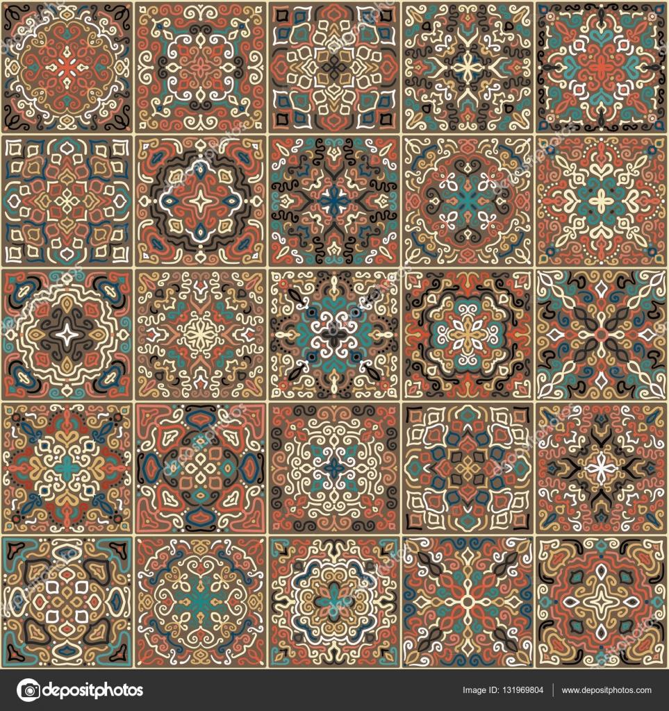 Azulejos patrón de tejido — Vector de stock © amovitania #131969804