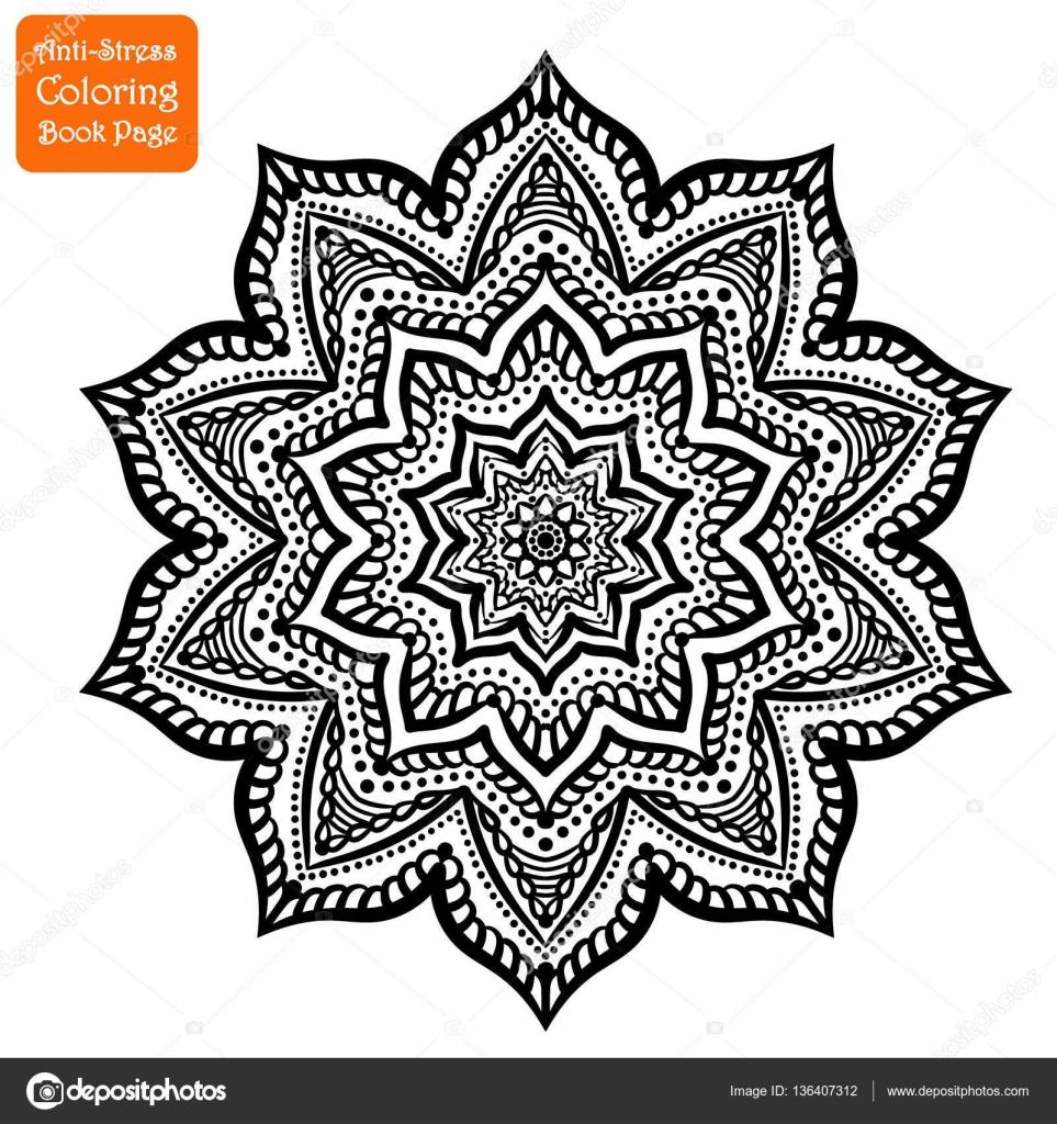 Mano de Mandala dibujado intrincados — Archivo Imágenes Vectoriales ...