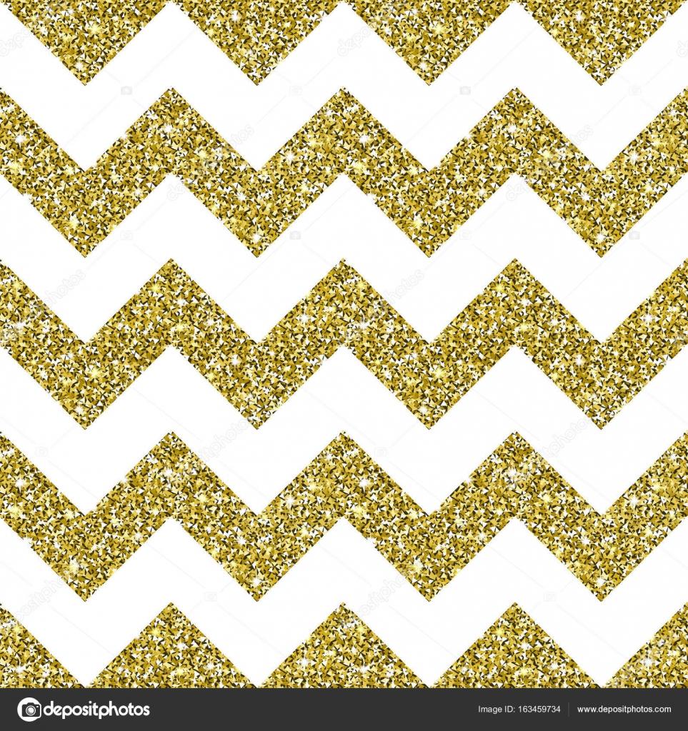 Black And Gold Glitter Chevron Background