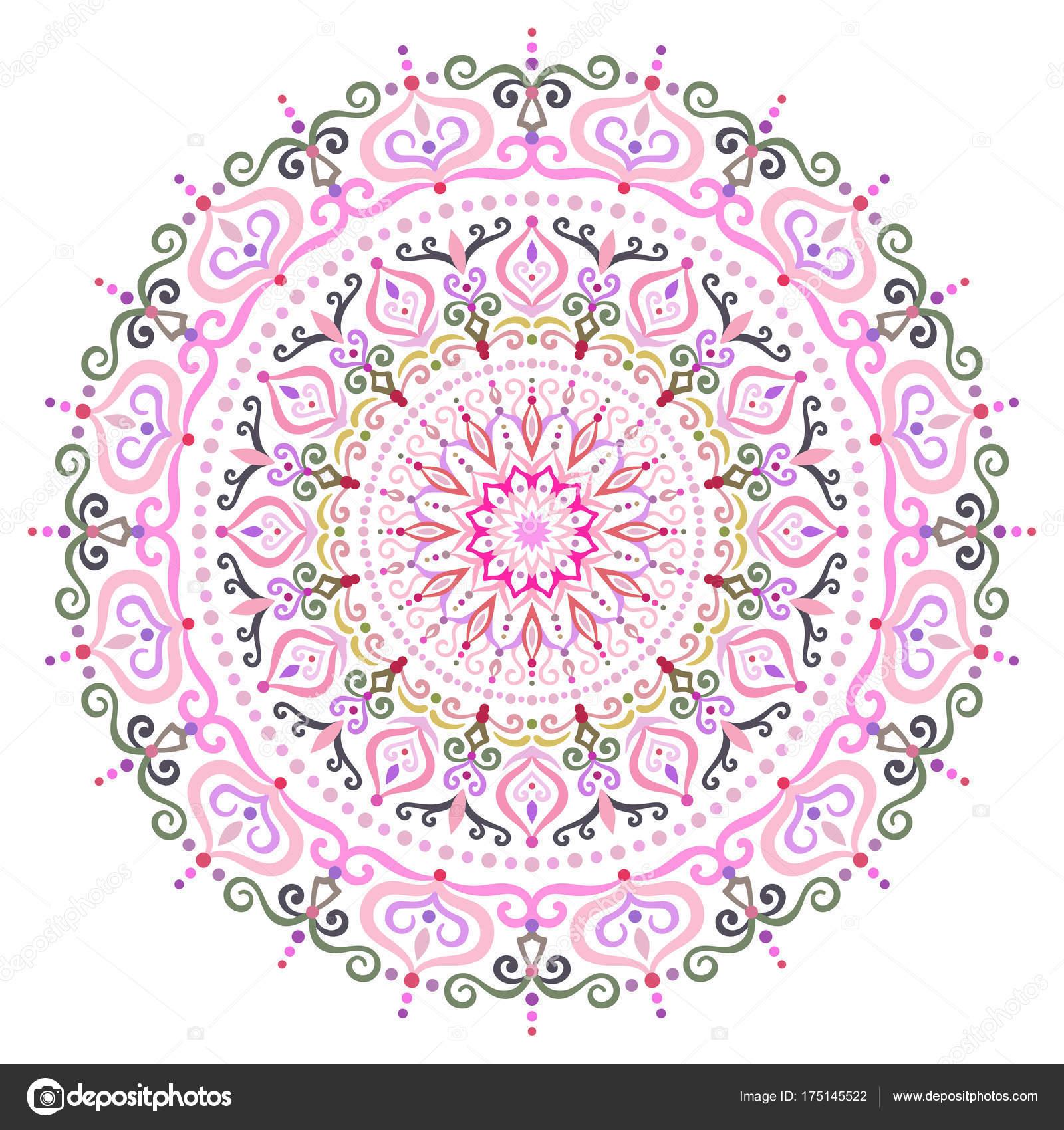 Elemento de diseño intrincado Mandala flor — Archivo Imágenes ...
