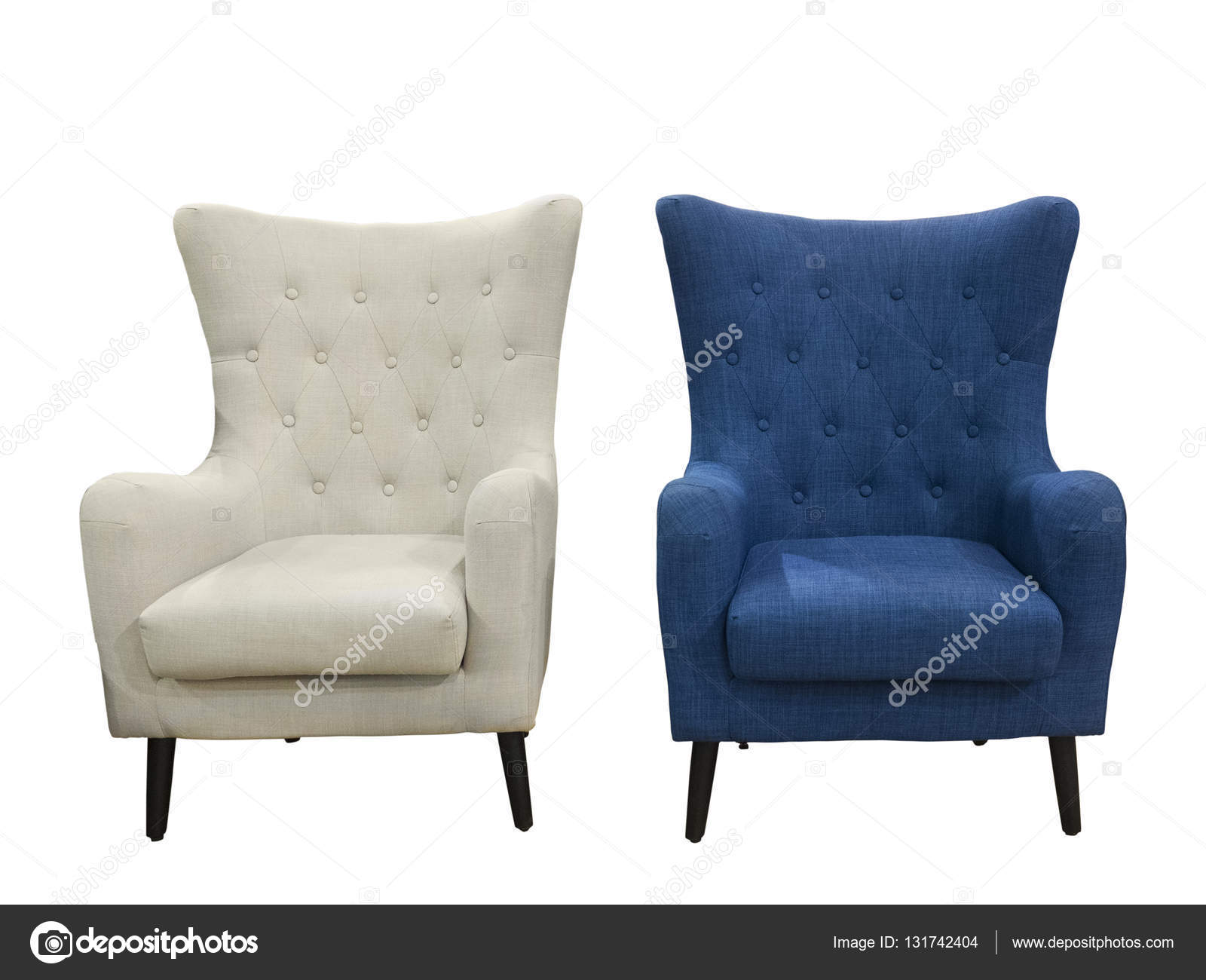 Two Armchairs Isolated On White Background. U2014 Stock Photo