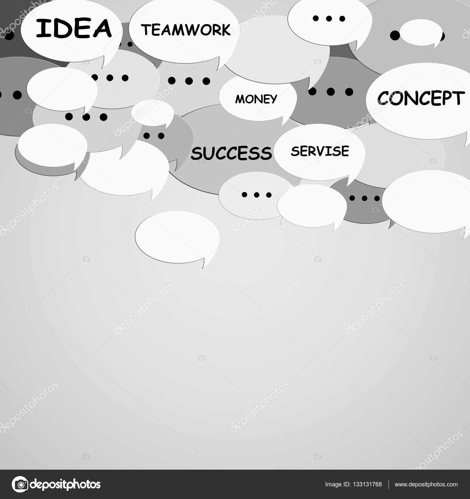 Burbujas De Discurso Con Palabras Motivacionales Sobre Fondo