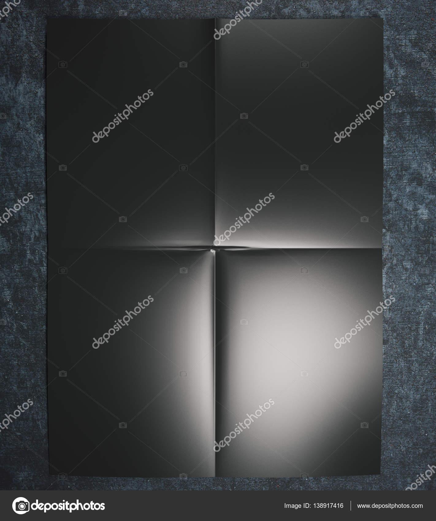 Schwarzes Papier auf Betonoberfläche — Stockfoto © peshkov #138917416