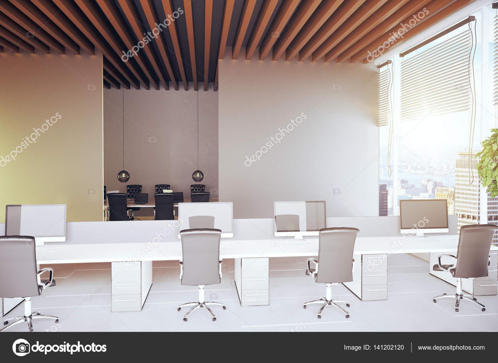 Moderne Büroeinrichtung coworking — Stockfoto © peshkov #141202120