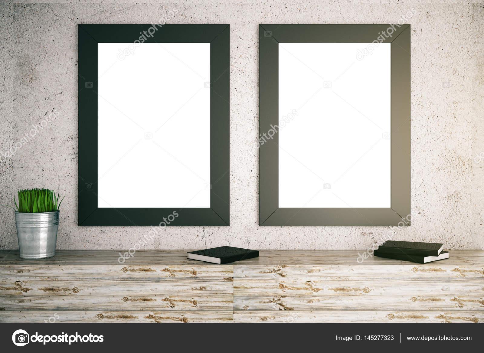 dos cuadros en blanco — Fotos de Stock © peshkov #145277323