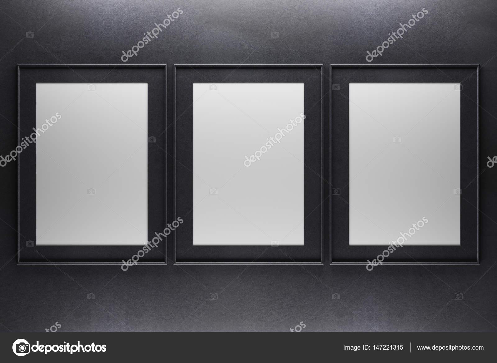 Three blank frames — Stock Photo © peshkov #147221315