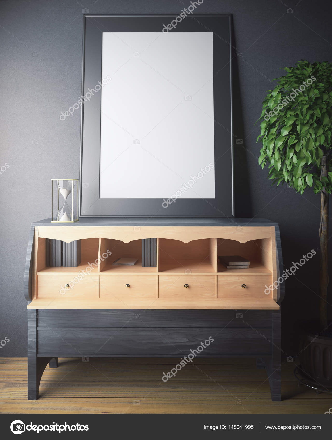 Schrank mit Rahmen — Stockfoto © peshkov #148041995