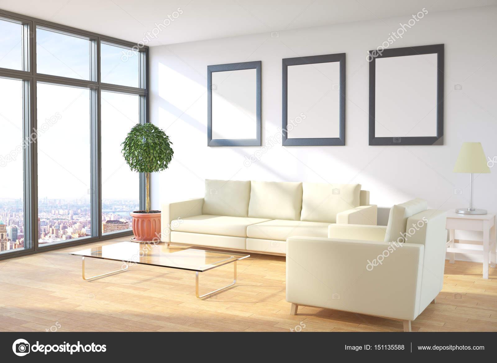 Habitación con cara de marcos de imagen — Foto de stock © peshkov ...