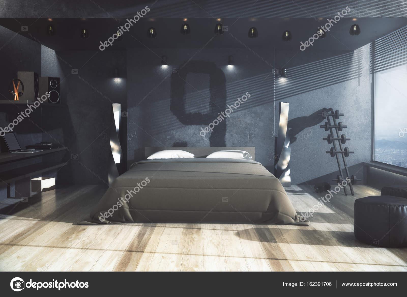 Mannelijke slaapkamer, woon concept — Stockfoto © peshkov #162391706