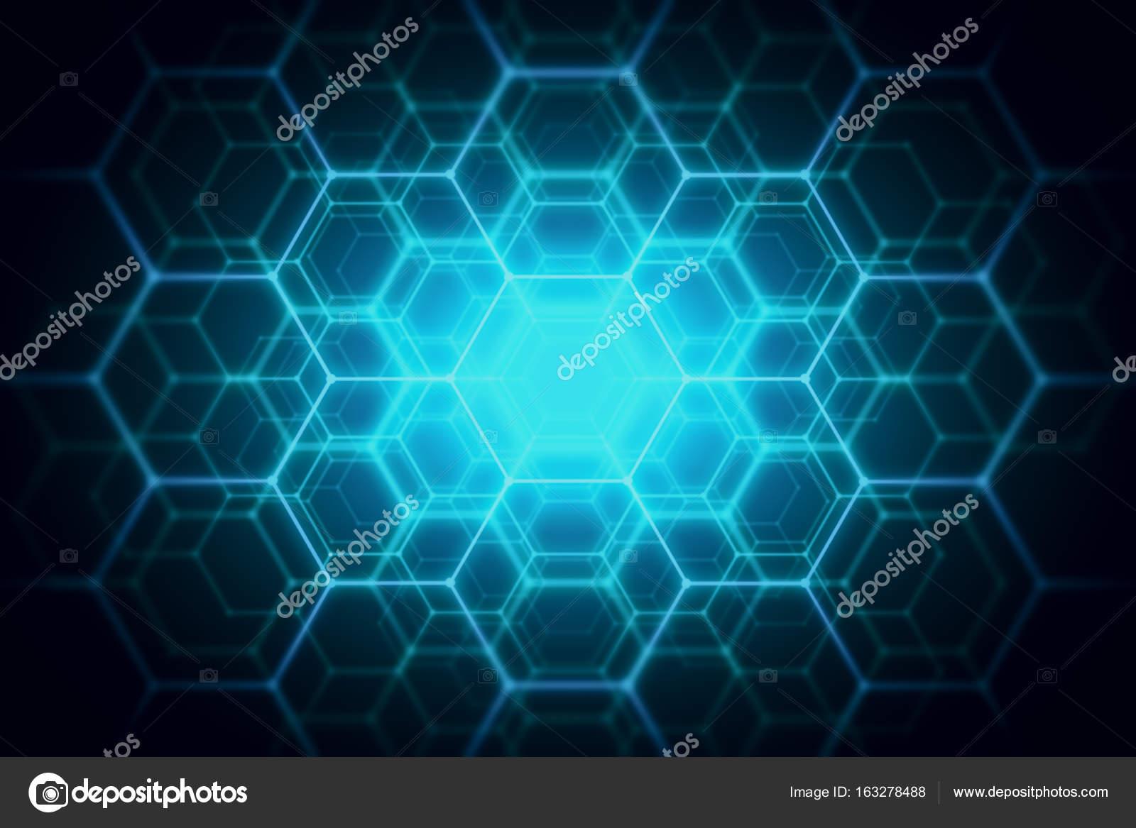 Blue hexagonal backdrop — Stock Photo © peshkov #163278488