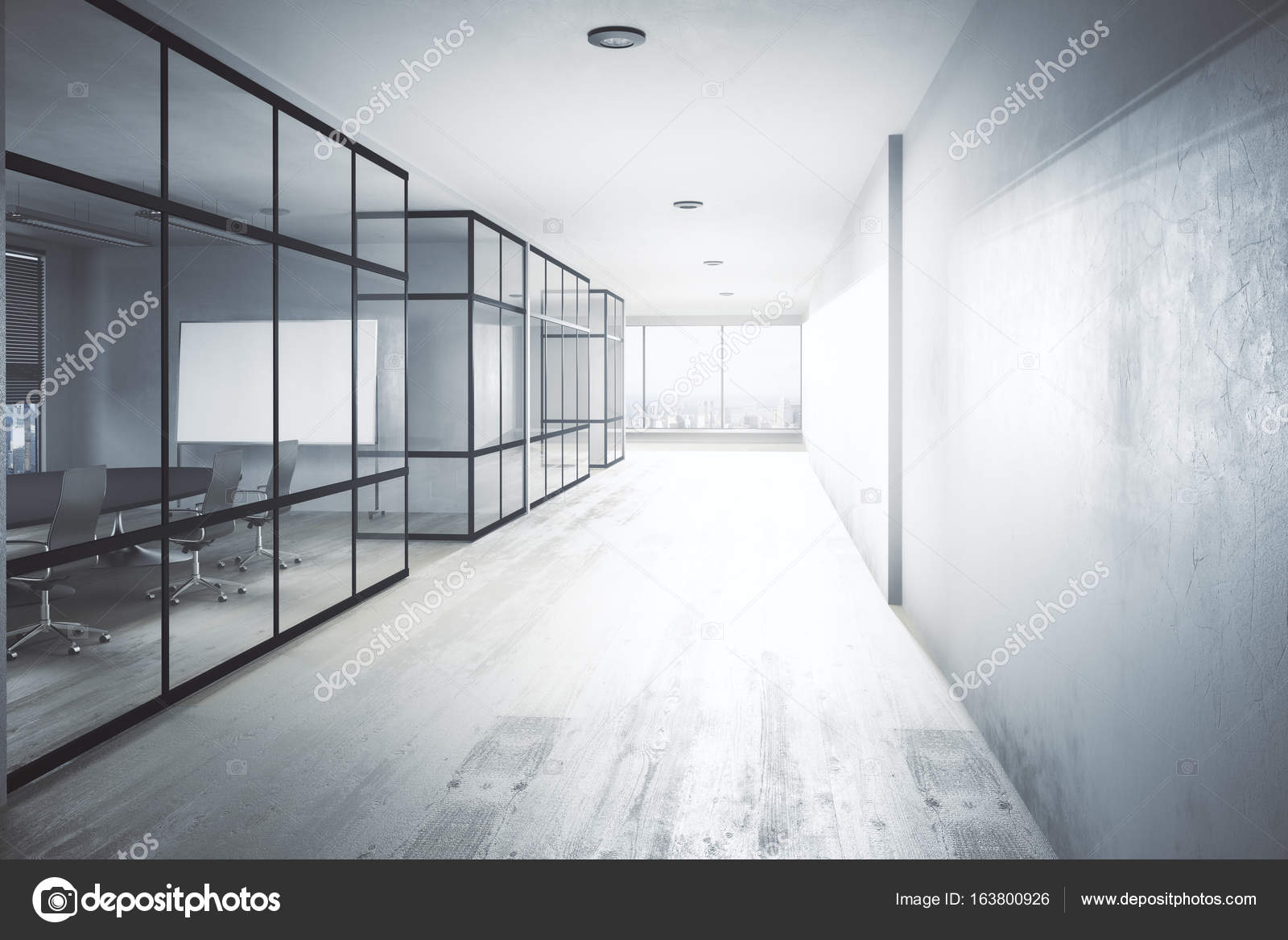 Modern Office Hallway Stock Photo C Peshkov 163800926