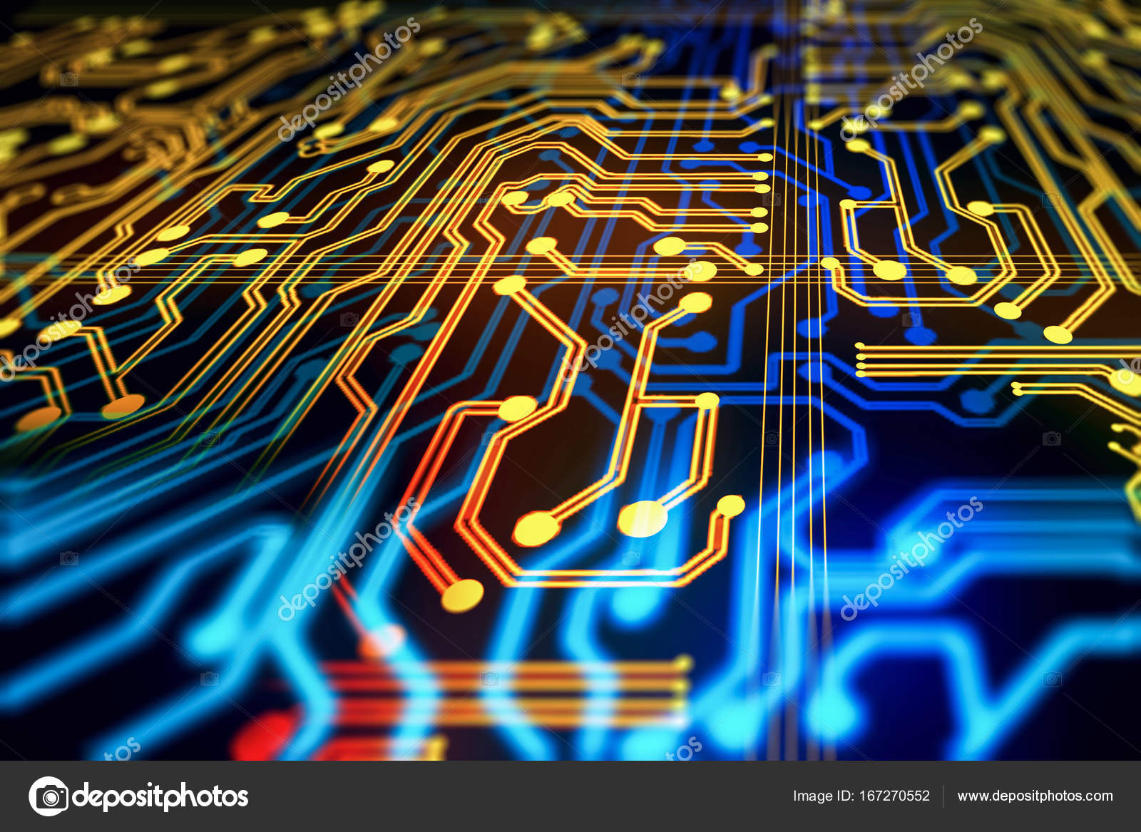 abstract circuit background technology and computer concept 3d rendering photo by peshkov