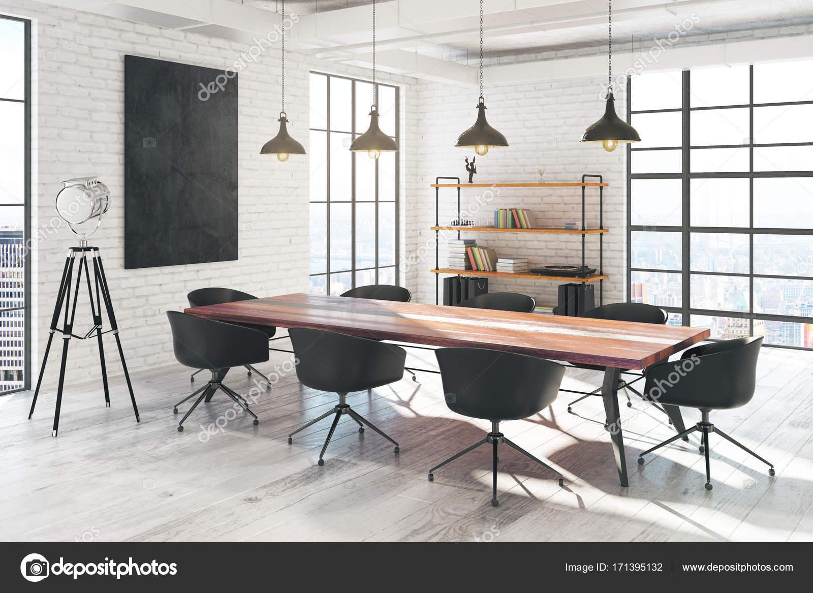 Meeting Raum Innenraum mit banner — Stockfoto © peshkov #171395132